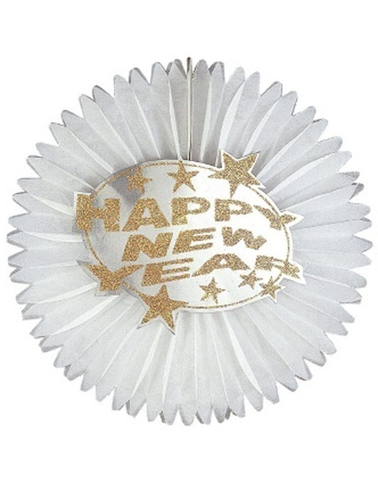 Glitter Happy New Year Papier waaier