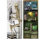 Halloween deco toiletdeur of frigo 75X150 CM